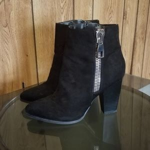 Brand New Express Black&Silver Zipup Booties Sz. 8